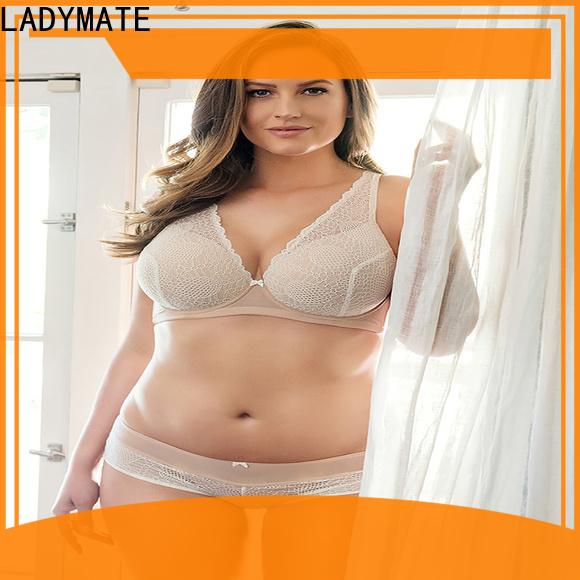 LADYMATE custom mesh plunge bra wholesale for girl