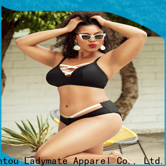 LADYMATE black molded cup tankini factory for female