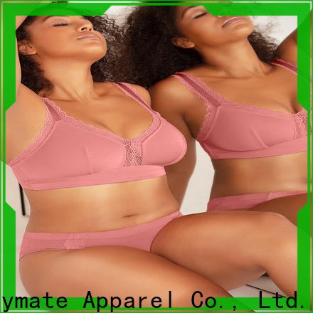 LADYMATE elegant lightly lined wireless bra supplier for female