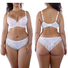 Full cup bra woman bra sets molded cup style bra and brief panty with padded cups plus size bra and underwear sets MD8937-MP9000