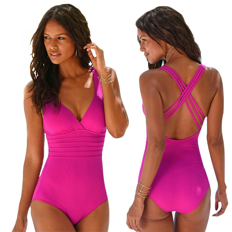 Woman Swimwear one piece Beachwear Slimming Backless push up Bikini One Piece Swimsuits - SW-913