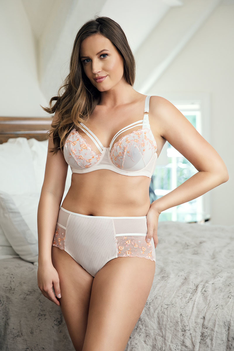 Full cup bra woman colorful embroidery bra sets molded cup style bra and brief panty with padded cups plus size bra and underwear sets P5671/p5673