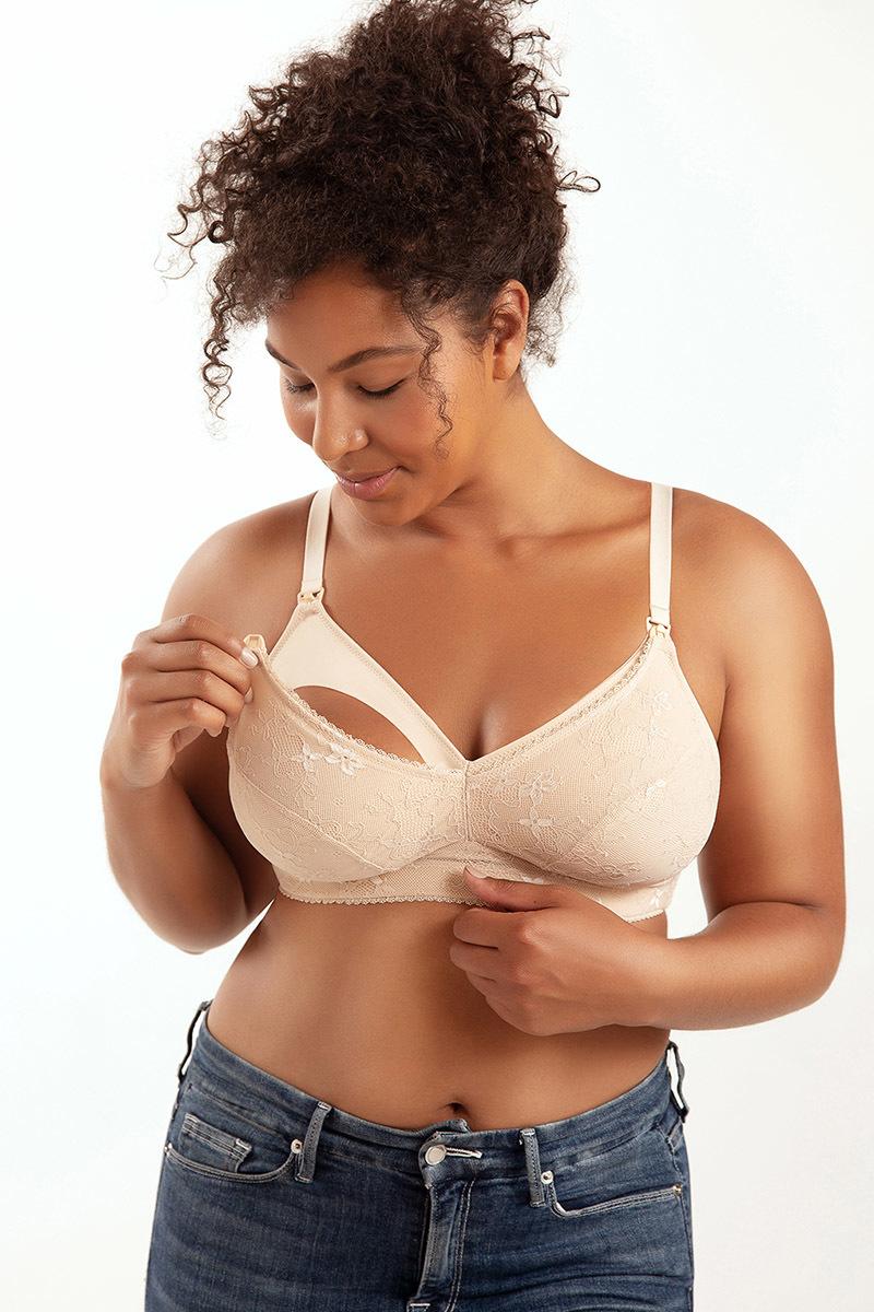 Nursing bra woman maternity bra plus size breastfeeding bra P5842