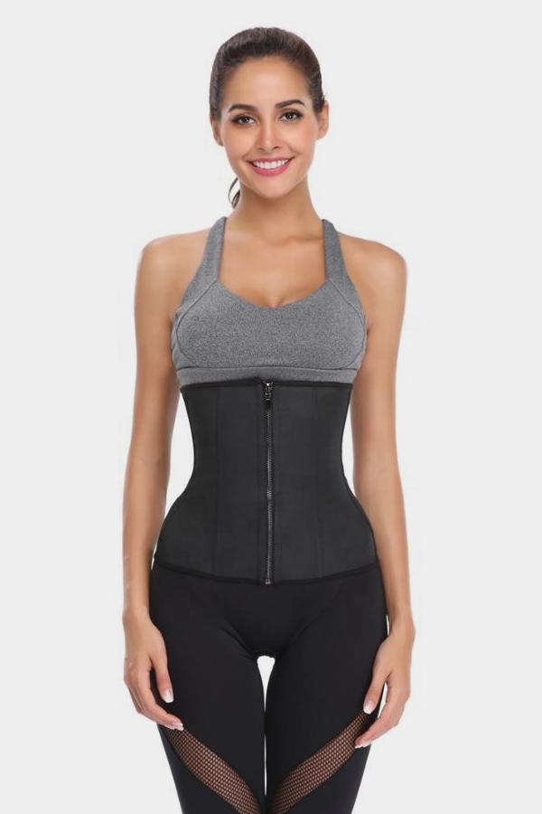 Waist Cincher Woman latex waist trainer tummy control shape wear steel boned corset plus size shape wear